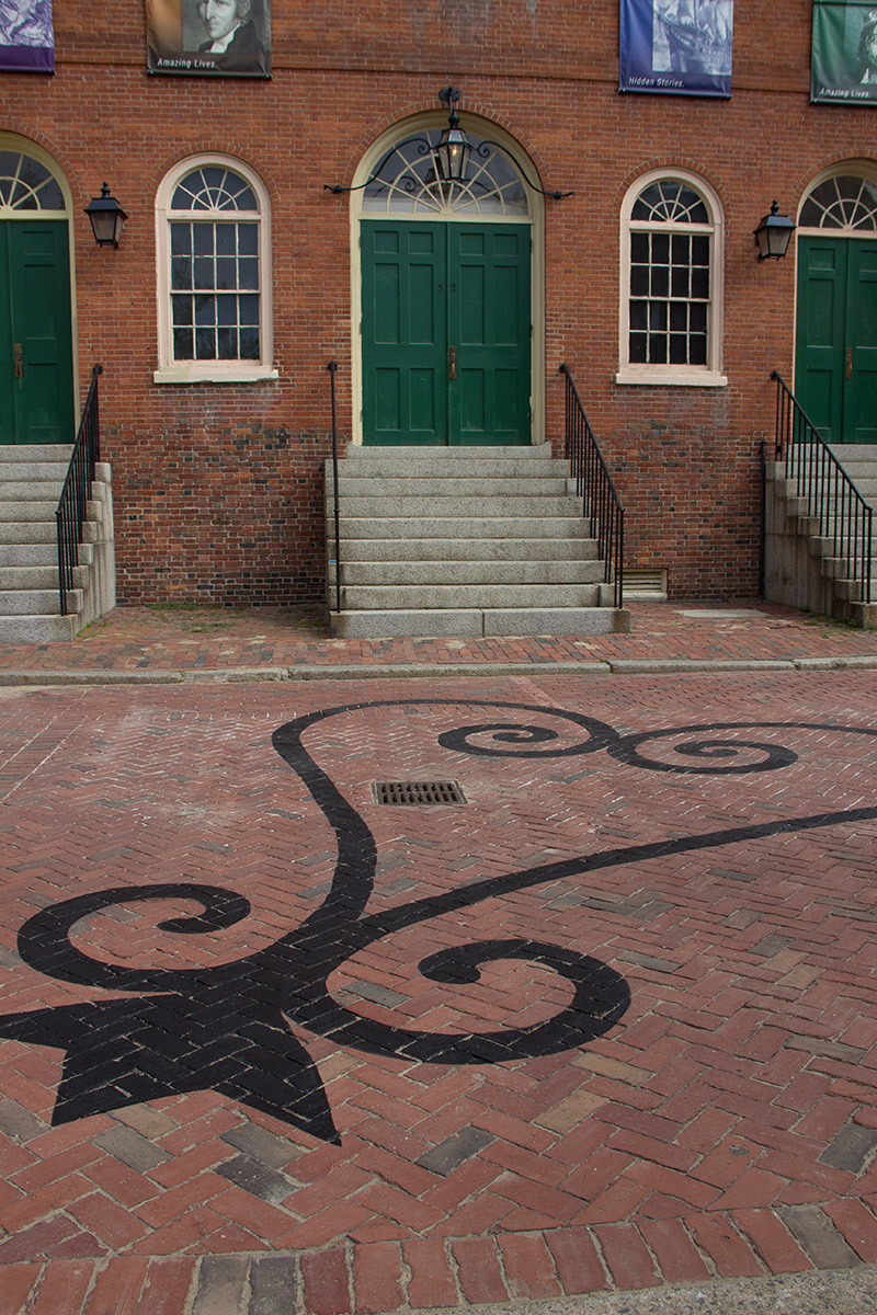 Sankofa symbol outside Old Town Hall in Salem, MA by Liz LaManche